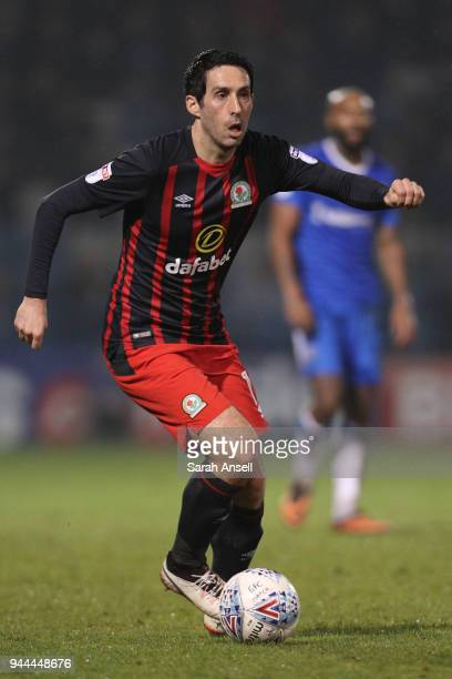 Peter Whittingham of Blackburn Rovers looks to cross the ball during the Sky Bet League One match between Gillingham and Blackburn Rovers at...