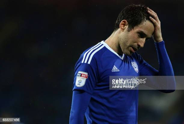 Peter Whittingham of Cardiff City reacts during the Sky Bet Championship match between Cardiff City and Preston North End at Cardiff City Stadium on...