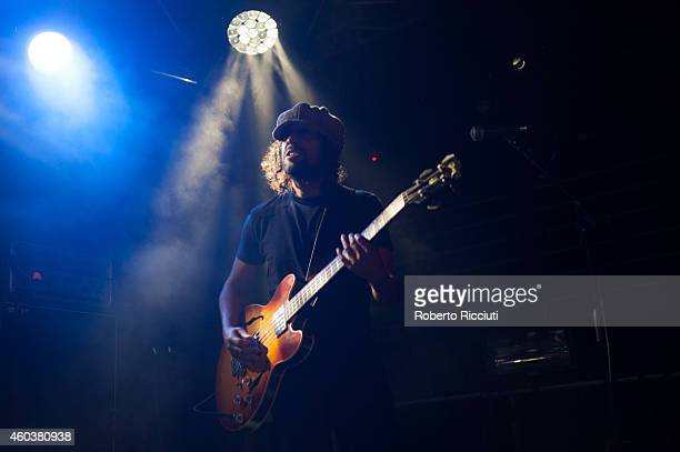 Peter Wilkinson of Cast performs on stage at The Liquid Room on December 12 2014 in Edinburgh United Kingdom
