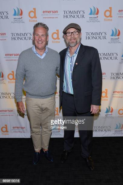 Peter Willson and Jason Connery attend the screening Of Tommy's Honour at Cineplex Oakville on April 17 2017 in Oakville Canada