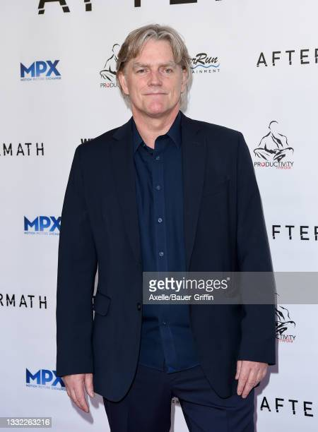 """Peter Winther attends the Los Angeles Premiere of """"Aftermath"""" at The Landmark Westwood on August 03, 2021 in Los Angeles, California."""