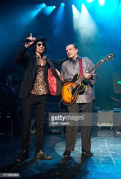 Peter Wolf and J Geils of the J Geils Band performs at the DTE Energy Center on August 19 2011 in Clarkston Michigan