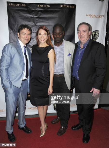 Peter Wrobell Anna Easteden Herman Wilkins and Matthew D Hunt arrive for the Los Angeles Premiere of 'Miles To Go' held at Writers Guild Theater on...