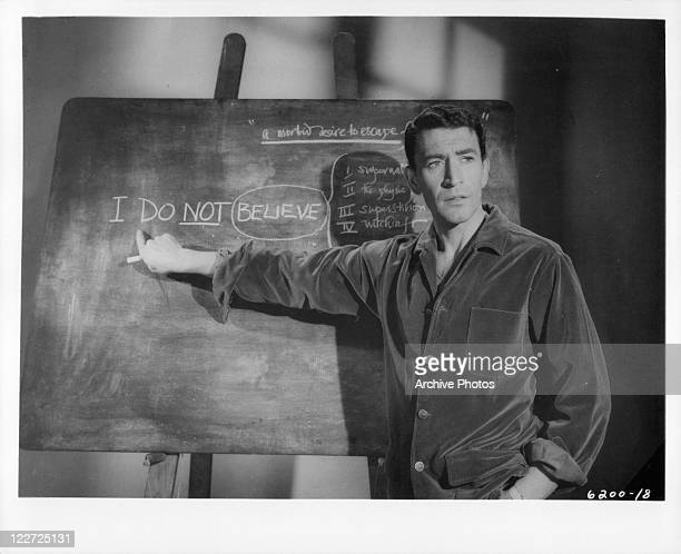 Peter Wyngarde in a scene from the film 'Burn Witch Burn' 1962