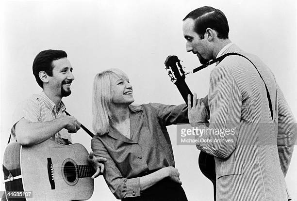 Peter Yarrow Mary Travers and Paul Stookey of the folk group 'Peter Paul Mary' pose for a portrait circa 1965