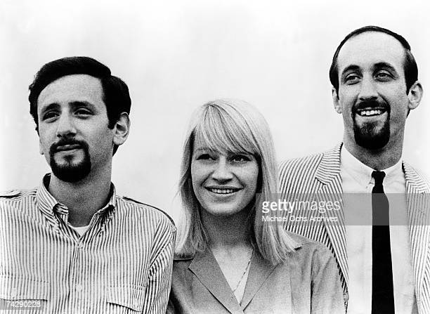 Peter Yarrow Mary Travers and Paul Stookey of the folk group Peter Paul Mary pose for a portrait in circa 1965