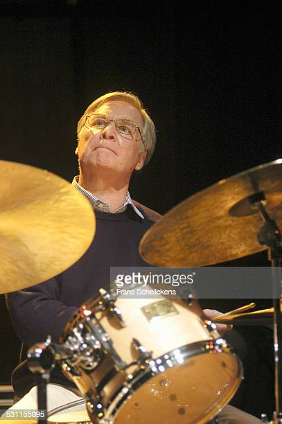 Peter Ypma, drums, performs on March 14th 2003 at the BIM huis in Amsterdam, the Netherlands.