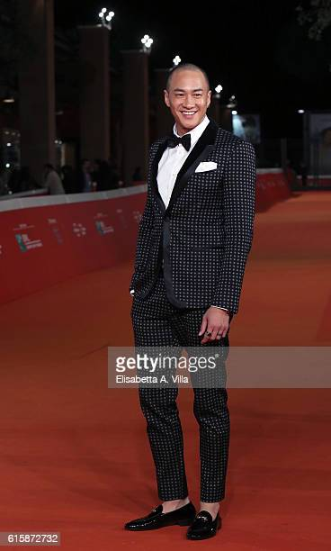 Peter Yun Tung Ho walks a red carpet for 'San Shao Ye De Jian Sword Master 3D' during the 11th Rome Film Festival at Auditorium Parco Della Musica on...