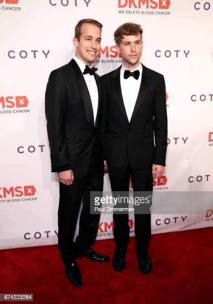 Peter Zurkuhlen and Tommy Dorfman attend the 11th Annual DKMS Big Love Gala at Cipriani Wall Street on April 27 2017 in New York City