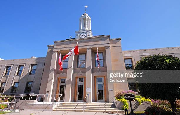 peterborough city hall - peterborough ontario stock photos and pictures