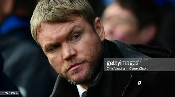 Peterborough United manager Grant McCann during the Sky Bet League One match between Peterborough United and Blackpool at ABAX Stadium on November 18...