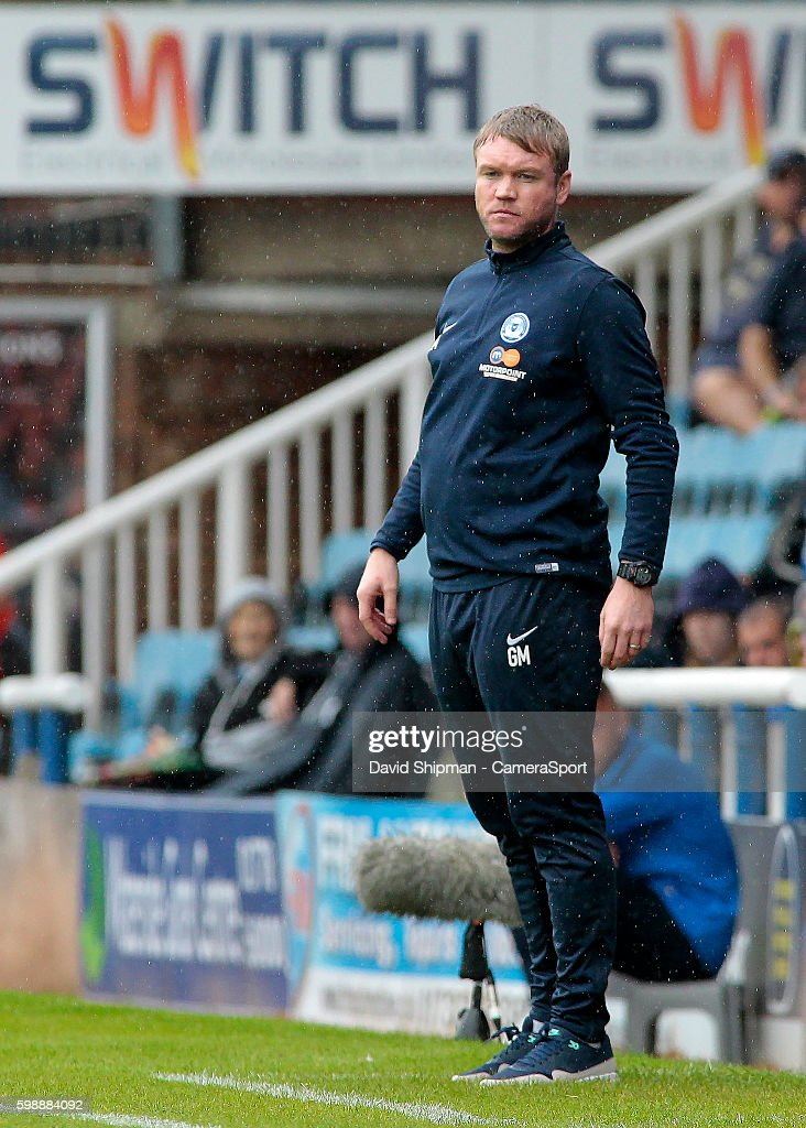 Peterborough United manager Grant McCann looks on from the touchline during the Sky Bet League One match between Peterborough United and Swindon Town at ABAX Stadium on September 3, 2016 in Peterborough, England.