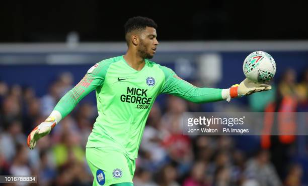 Peterborough United's Aaron Chapman during the Carabao Cup First Round match at Loftus Road London