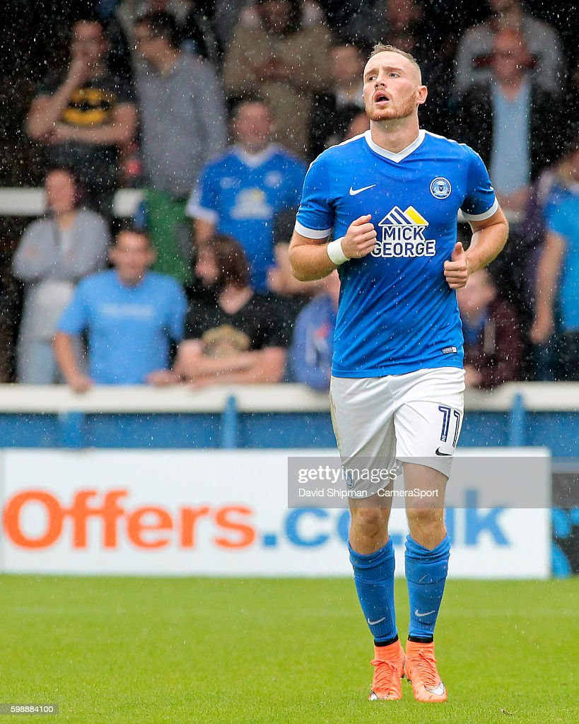 Peterborough United's Marcus Maddison in action during todays match during the Sky Bet League One match between Peterborough United and Swindon Town at ABAX Stadium on September 3, 2016 in Peterborough, England.