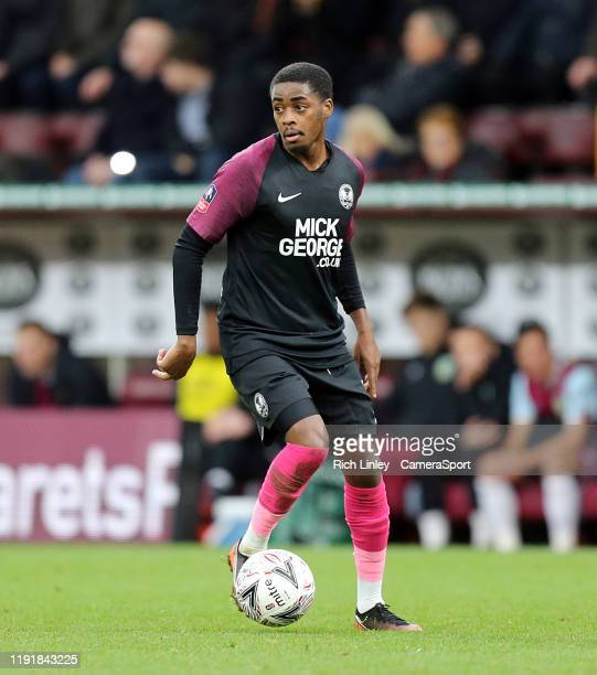 Peterborough United's Reece Brown during the FA Cup Third Round match between Burnley and Peterborough United at Turf Moor on January 4, 2020 in...