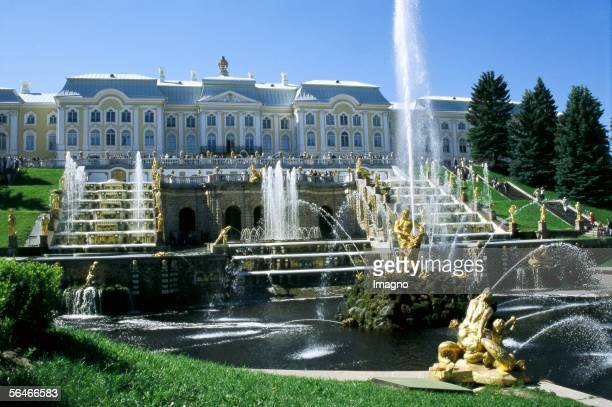 """Peterhof, is a series of palaces and gardens, laid out on the orders of Tsar Peter the Great, and sometimes called the """"Russian Versailles"""". It is..."""