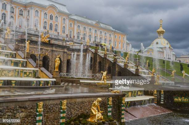 Peterhof palace in Saint Peteresburg on June 05 2018Two weeks before the start of the FIFA World Cup Russia 2018 International Media Expedition was...
