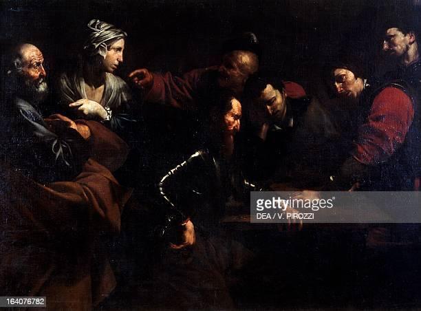Peter's denial by the Master of the Judgement of Solomon oil on canvas Rome Galleria Nazionale D'Arte Antica Di Palazzo Corsini