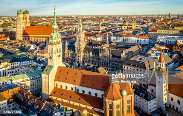 peterskirche - marienplatz stock pictures, royalty-free photos & images