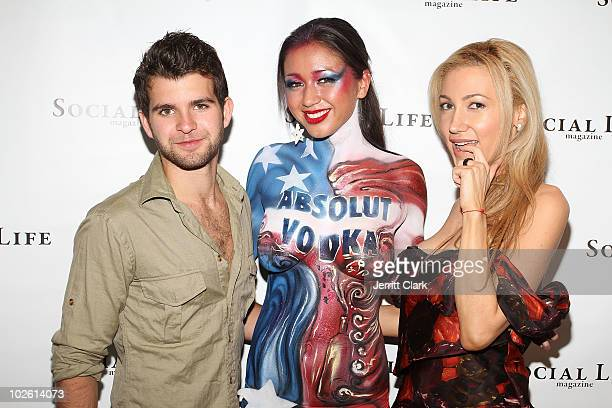Peterson, a model and Devorah Rose attend the social life magazine party at The Social Life Estate on July 3, 2010 in Watermill, New York.