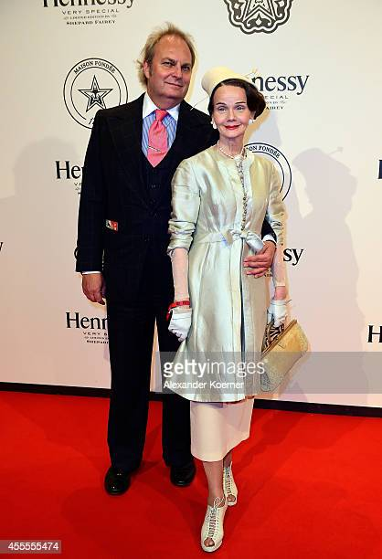 Peterson Petersen and Britt Kanja attend the Hennessy Very Special Limited Edition by Shepard Fairey launch party at Kraftwerk Mitte on September 16...