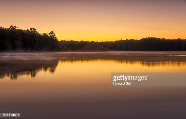 pete's lake, upper peninsula michigan, sunrise - hiawatha national forest stock pictures, royalty-free photos & images