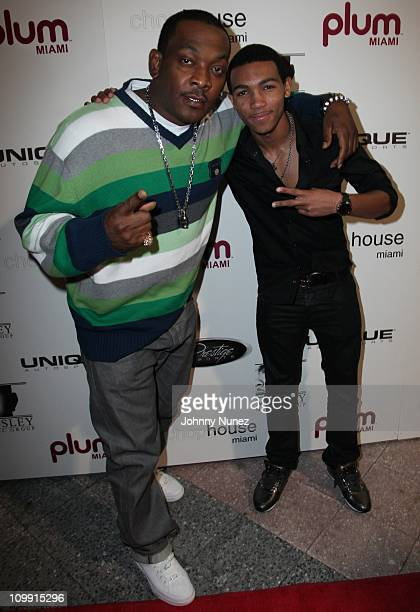 Petey Pablo and Demetrius Mosley attend Timbaland's birthday party at the Chop House on March 9 2011 in Miami Florida