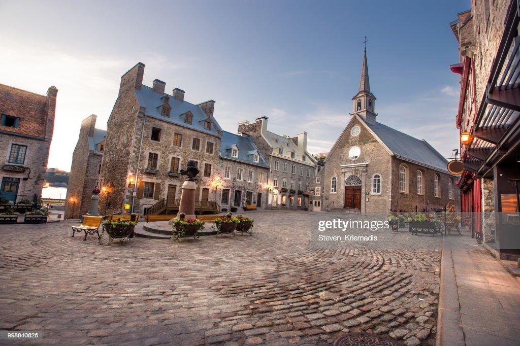 Petit Champlain District of Old Quebec City : Stock Photo