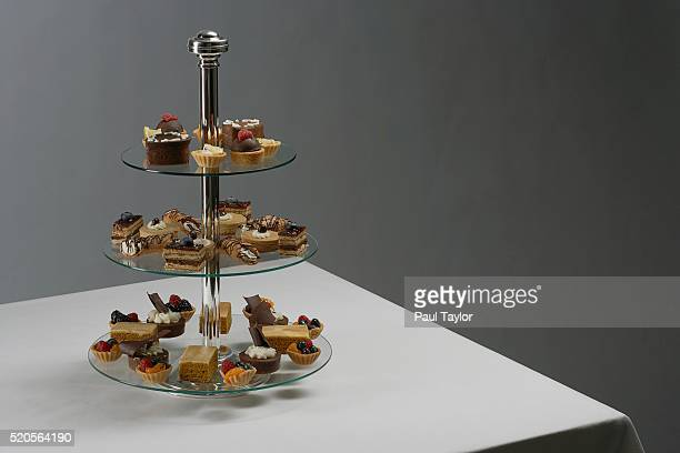 petit fours on cookie tray - french food stock pictures, royalty-free photos & images
