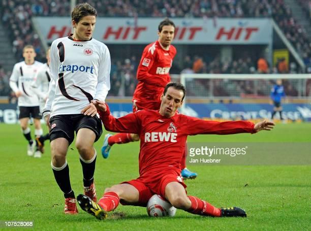 Petit of 1 FC Koeln and Pirmin Schwegler of Eintracht Frankfurt battle for the ball during the Bundesliga match between 1FC Koeln and Eintracht...