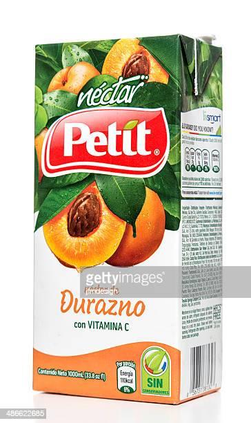 Petit Peach Nectar carton box