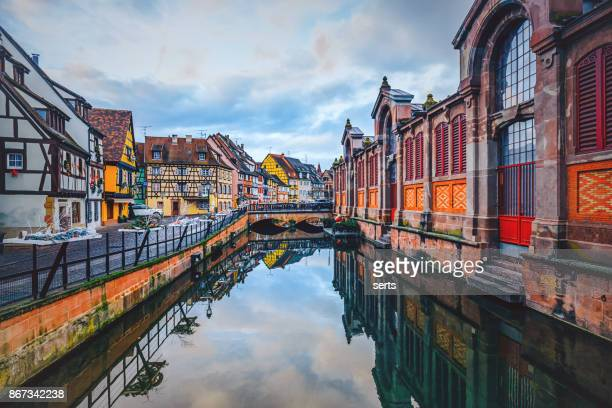 petit venice, colmar, france - colmar stock photos and pictures