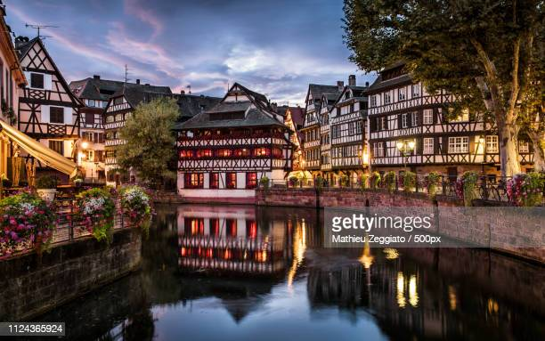 petite france strasbourg - strasbourg stock pictures, royalty-free photos & images