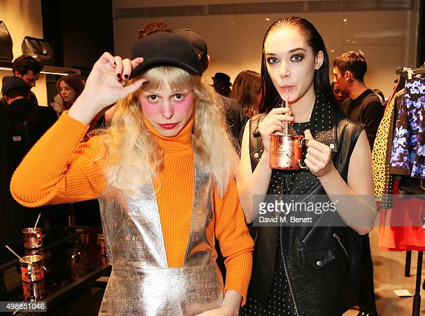 Petite Meller and Elizabeth Jane Bishop attend the McQ Spitalfields launch on November 26 2015 in London England