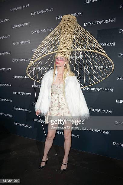 Petite Meller attends the Emporio Armani show as part of the Paris Fashion Week Womenswear Spring/Summer 2017 on October 3, 2016 in Paris, France.