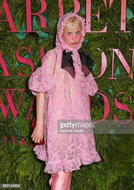 Petite Meller attends the Green Carpet Fashion Awards Italia at Teatro Alla Scala on September 24 2017 in Milan Italy