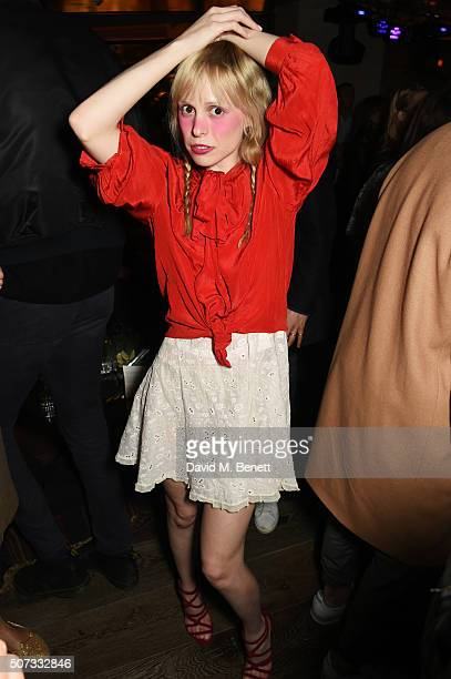 Petite Meller attends the launch of 100 Wardour St on January 28 2016 in London England