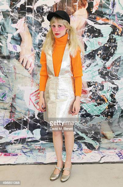 Petite Meller attends the McQ Spitalfields launch on November 26 2015 in London England