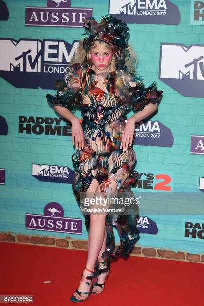 Petite Meller attends the MTV EMAs 2017 held at The SSE Arena Wembley on November 12 2017 in London England