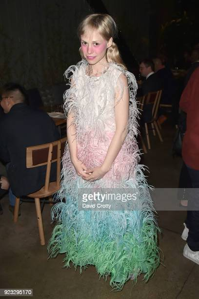 Petite Meller attends the Vhils 'Annihilation' Opening Reception on February 22 2018 in Los Angeles California