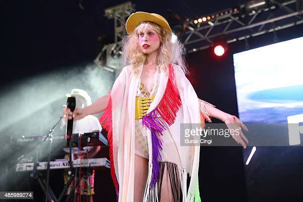 Petite Meller performs on Day 3 of Reading Festival at Richfield Avenue on August 30 2015 in Reading England