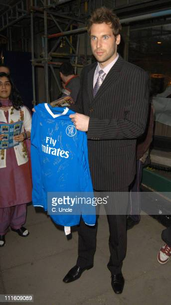 Petr Cech during The 2005 PFA Awards Arrivals at Grosvenor House Hotel in London Great Britain