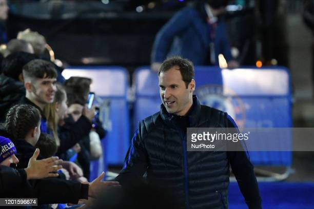 Petr Cech during the Premier League match between Chelsea FC and Manchester United at Stamford Bridge on February 17 2020 in London United Kingdom