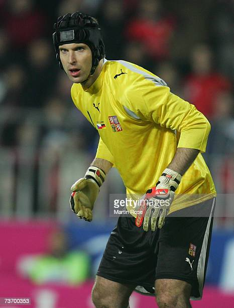 Petr Cech goalkeeper of Czech Republic poses during the Euro2008 Qualifier match between Czech Republic and Germany at the Toyota Arena on March 24...