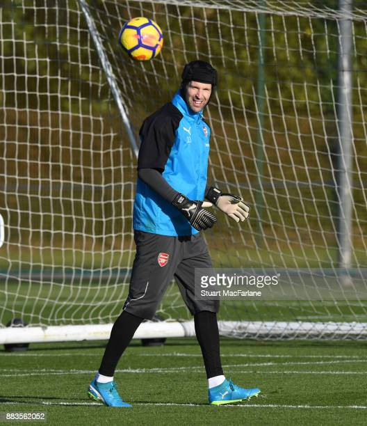 Petr Cech of Arsenal during a training session at London Colney on December 1 2017 in St Albans England