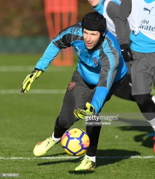 Petr Cech of Arsenal during a training session at London Colney on January 19 2018 in St Albans England