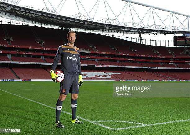 Petr Cech of Arsenal during the 1st team photocall at Emirates Stadium on July 28 2015 in London England