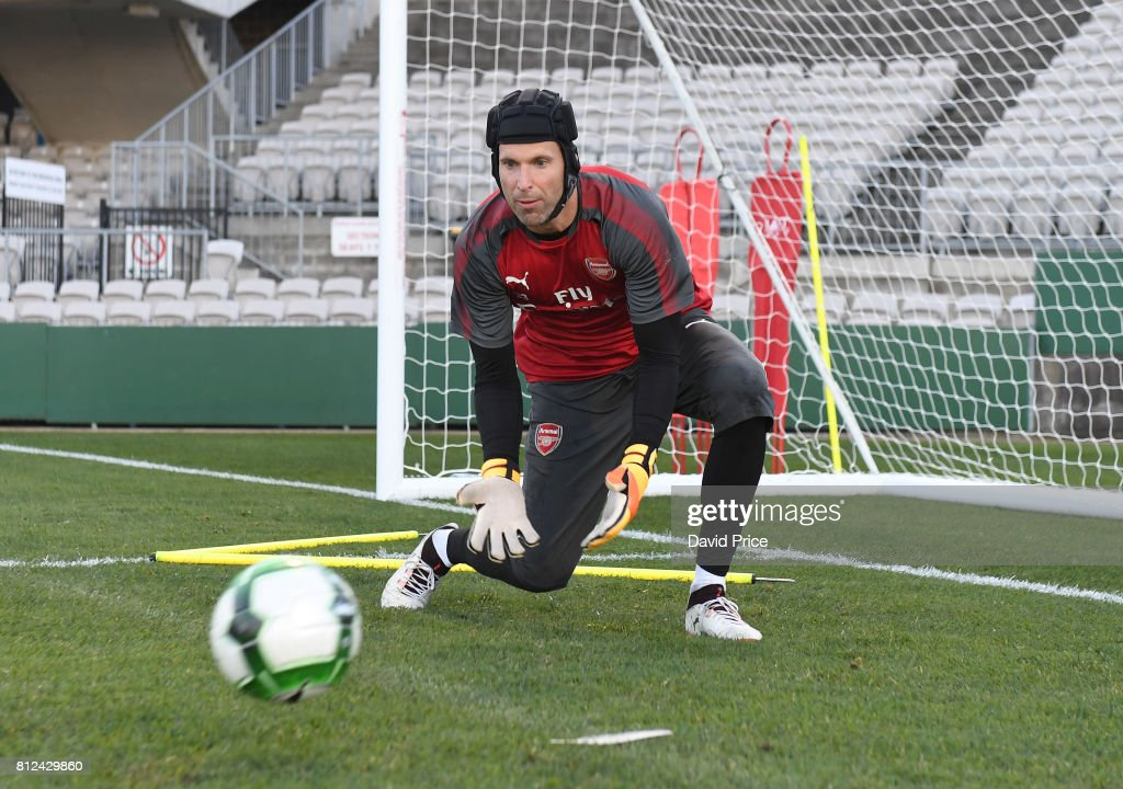 Petr Cech of Arsenal during the Arsenal Training Session at Koragah Oval on July 11, 2017 in Sydney, Australia.