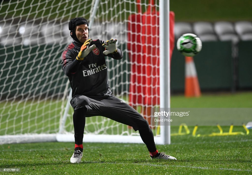 Petr Cech of Arsenal during the Arsenal Training Session at Koragah Oval on July 12, 2017 in Sydney, Australia.
