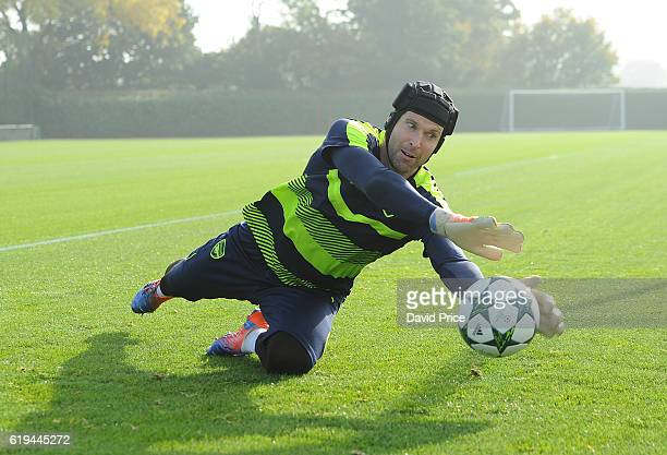 Petr Cech of Arsenal during the Arsenal Training Session at London Colney on October 31, 2016 in St Albans, England.